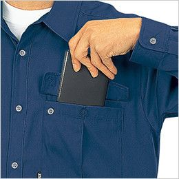 ジーベック 9100 プリーツロンSX長袖ブルゾン(男女兼用) 大型フラットポケット
