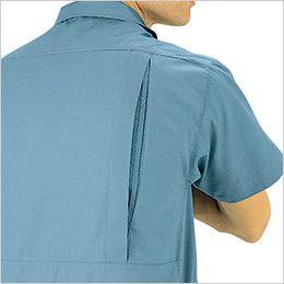 ジーベック 9292 [春夏用]PETボトルリサイクリーン半袖シャツ メッシュプリーツロン採用