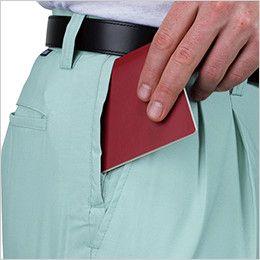 [在庫限り/返品交換不可]ジーベック 9660 [春夏用]スラレーズラットズボン(ツータック ) 盗難や遺失などの防止に役立つ、安全なファスナー付き隠しポケット「スラレーズ」