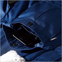 ジーベック 991 超撥水リサイクリーン防寒コート 携帯電話収納ポケット