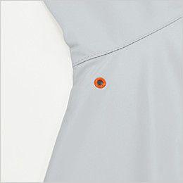 "KU90510SET 空調服セット 長袖ブルゾン ポリ100% ワンポイントのアイレット付"""