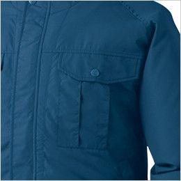 KU90810 [春夏用]空調服 長袖ブルゾン(フード付き) ポリ100% ポケット付