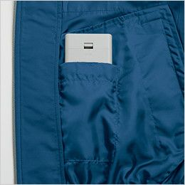 KU90810 [春夏用]空調服 長袖ブルゾン(フード付き) ポリ100% 電池ボックス専用ポケット