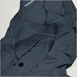 KU91410 [春夏用]空調服 綿100% 長袖ブルゾン(フード付き) スベリ止め付き