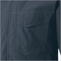 KU91410 [春夏用]空調服 綿100% 長袖ブルゾン(フード付き) ポケット付き