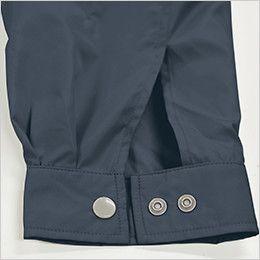 KU91410 [春夏用]空調服 綿100% 長袖ブルゾン(フード付き) ダブルボタン