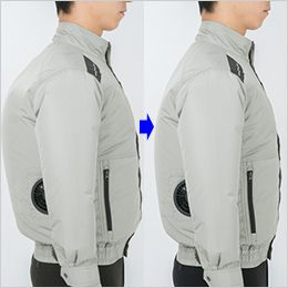 ジーベック XE98008SET [春夏用]空調服セット 長袖ブルゾン ポリ100% 身頃の膨らみを抑えたシャープなシルエット