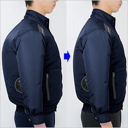 ジーベック XE98015SET [春夏用]空調服セット 遮熱 長袖ブルゾン ポリ100% 身頃の膨らみを抑えたシャープなシルエット
