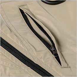 ジーベック XE98103 [春夏用]空調服 遮熱 ハーネス対応 長袖ブルゾン ポリ100% ファスナー縦ポケット