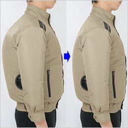 ジーベック XE98103SET [春夏用]空調服セット 遮熱 ハーネス対応 長袖ブルゾン ポリ100% 身頃の膨らみを抑えたシャープなシルエット