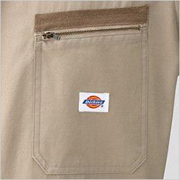 [在庫限り/返品交換不可]21-1301 ディッキーズ 長袖ツナギ ファスナー仕様ポケット(左胸ロゴ付き)