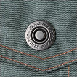 [在庫限り/返品交換不可]21-1401 ディッキーズ 長袖ツナギ ロゴ入りドットボタン