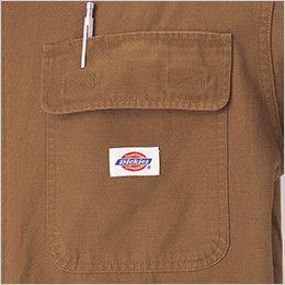 21-702 ディッキーズ 綿100%長袖ツナギ ペン差し付きポケット