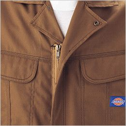 21-711 ディッキーズ [春夏用]制電半袖ツナギ カラーステッチ三重環縫い
