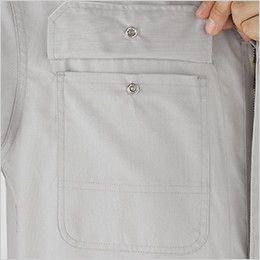 21-713 ディッキーズ [春夏用]半袖ストライプツナギ ポケット