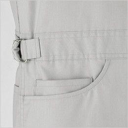 21-713 ディッキーズ [春夏用]半袖ストライプツナギ ミニポケット