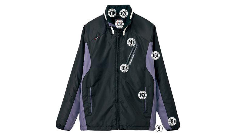 アイトス AZ10304 [秋冬用]タルテックス フードイン中綿ジャケット(男女兼用) 商品詳細・こだわりPOINT