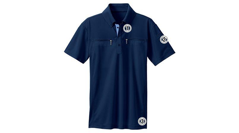 AZ10602 アイトス ボタンダウンダブルジップ半袖ポロシャツ(男女兼用) 商品詳細・こだわりPOINT