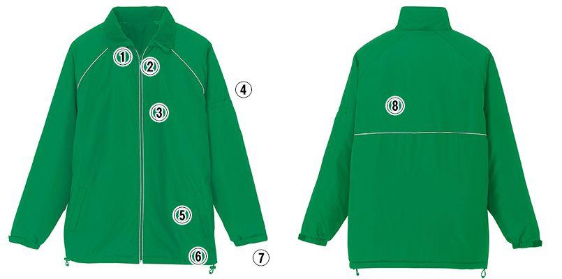 アイトス AZ2203 リフレクト裏フリースジャケット(男女兼用) 商品詳細・こだわりPOINT