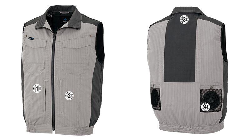 AZ-30697 アイトス 空調服 ベスト(男女兼用) 商品詳細・こだわりPOINT