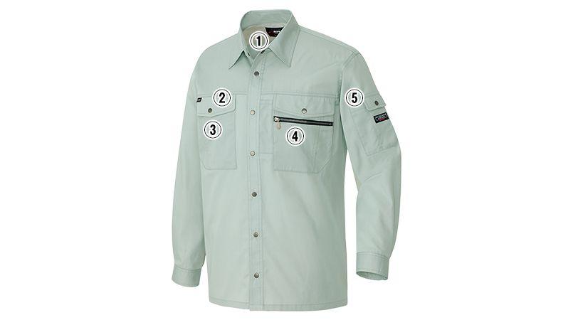 アイトス AZ3235 スタンダード 帯電防止ライトツイルシャツ/長袖 商品詳細・こだわりPOINT