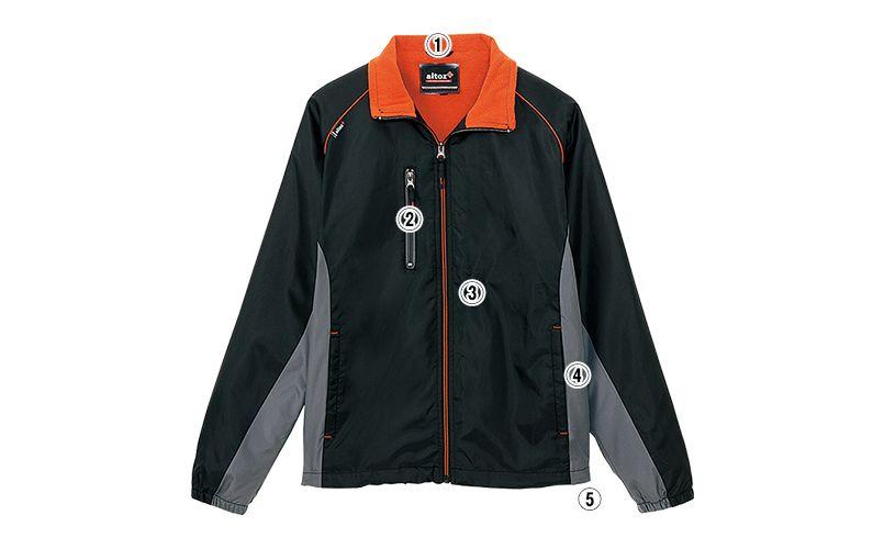 AZ50111 アイトス 裏フリースジャケット スポーティ軽防寒 商品詳細・こだわりPOINT