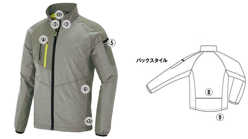 AZ50118 アイトス タルテックス 裏メッシュジャケット(男女兼用) 商品詳細・こだわりPOINT