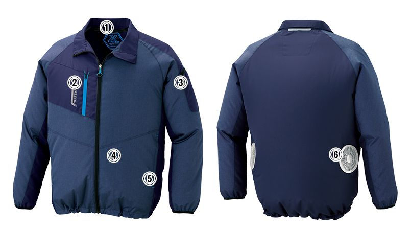 アイトス AZ50199 [春夏用]タルテックス 空調服 長袖ジャケット(男女兼用) ポリ100% 商品詳細・こだわりPOINT