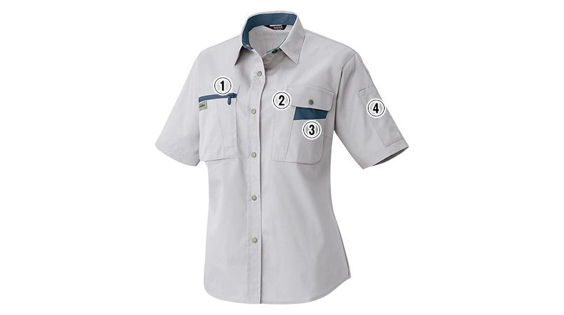 AZ5317 アイトス ムービンカット レディースシャツ/半袖(女性用) 商品詳細・こだわりPOINT