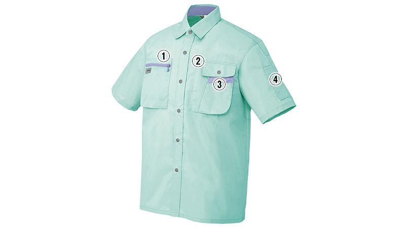 アイトス AZ5326 ムービンカット シャツ/半袖 商品詳細・こだわりPOINT