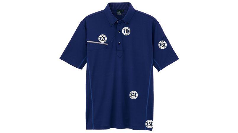AZ551046 アイトス 冷感・半袖ボタンダウンポロシャツ(男女兼用) 商品詳細・こだわりPOINT