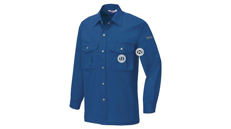 アイトス AZ595 帯電防止ベストT/Cライトツイルシャツ/長袖(薄地) 春夏 商品詳細・こだわりPOINT