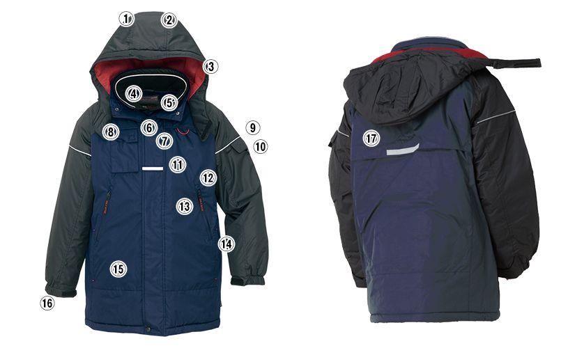 アイトス AZ6060 寒冷地対応 光電子 防風防寒着コート 商品詳細・こだわりPOINT