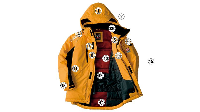 アイトス AZ6063 極寒対応 光電子 防風防寒着コート 商品詳細・こだわりPOINT