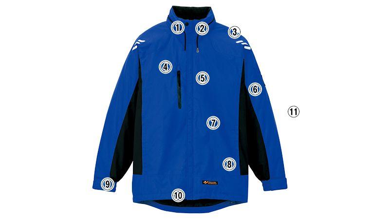 AZ6169 アイトス 光電子防風防寒ジャケット(フードイン)(男女兼用) 商品詳細・こだわりPOINT