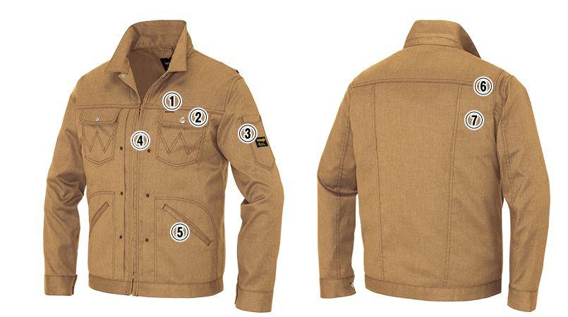 AZ64101 アイトス Wrangler(ラングラー) ジップアップジャケット(男女兼用) 商品詳細・こだわりPOINT