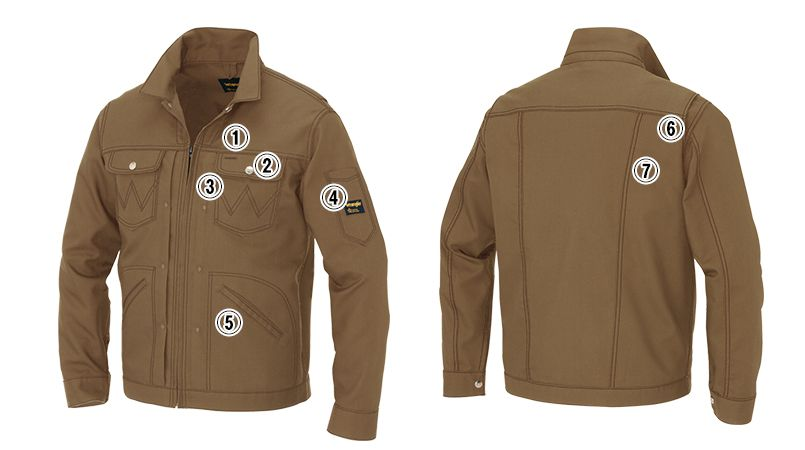 AZ64201 アイトス Wrangler(ラングラー) ジップアップジャケット(男女兼用) 商品詳細・こだわりPOINT