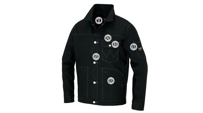 AZ64202 アイトス Wrangler(ラングラー) ボタンジャケット(男女兼用) 商品詳細・こだわりPOINT