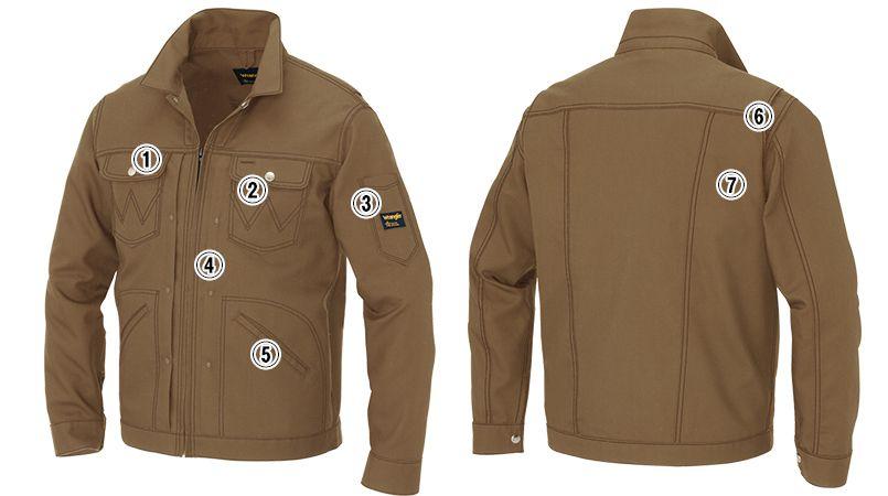 AZ64430 Wrangler(ラングラー) ジップアップジャケット(男女兼用) 商品詳細・こだわりPOINT