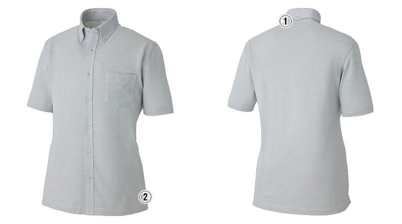 AZ7854 アイトス 半袖ニットボタンダウンシャツ 商品詳細・こだわりPOINT