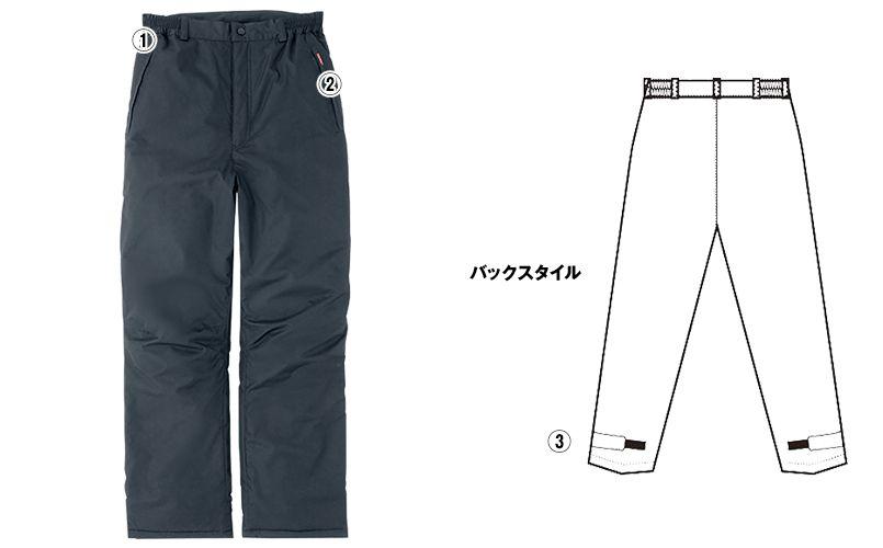 アイトス AZ8472 [秋冬用]タルテックス 業務用 防風防寒ズボン(パンツ) 商品詳細・こだわりPOINT