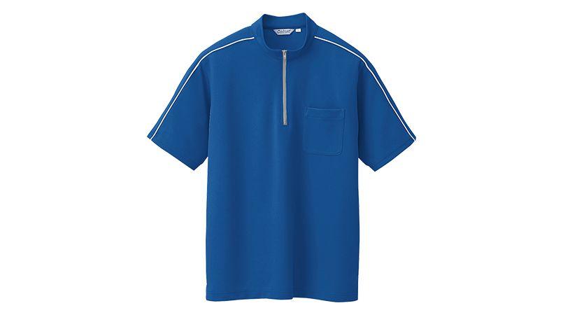 CL3000 アイトス 半袖クイック ドライジップ ポロシャツ(男女兼用) ニットパイピング 商品詳細・こだわりPOINT
