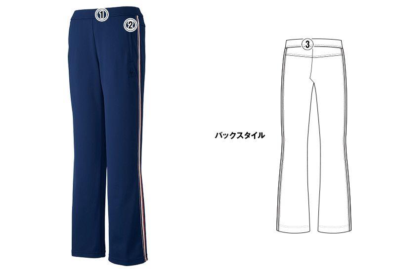 UZL2012 ルコック ジャージ ブーツカットパンツ (女性用)スポーティなサイドライン 商品詳細・こだわりPOINT