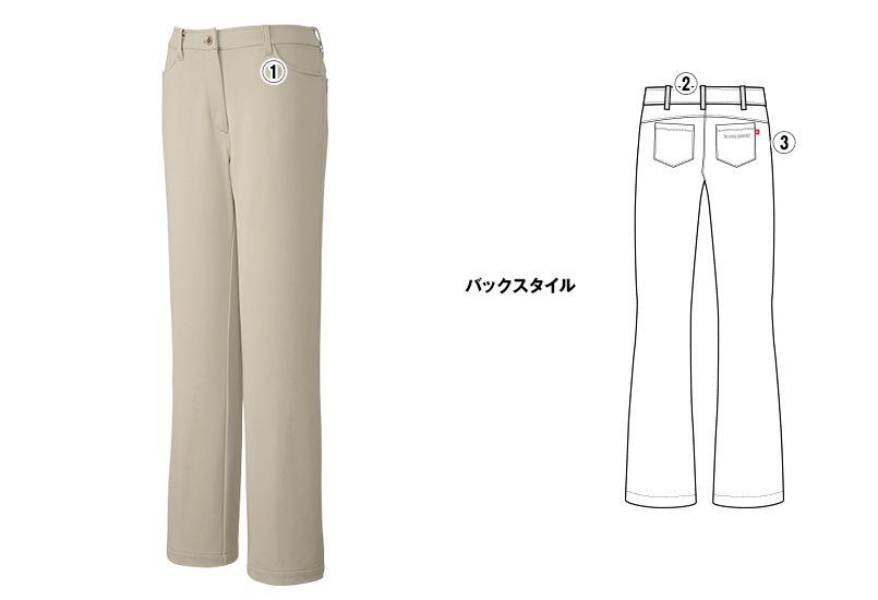 UZL4022 ルコック ジャージ ニットスラックスパンツ (女性用) 商品詳細・こだわりPOINT