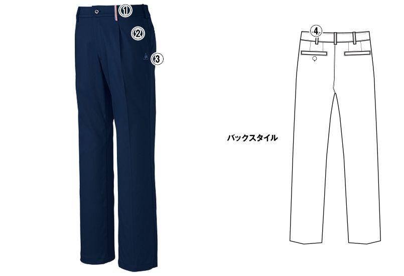 UZL4027 ルコック ワンタックスラックスパンツ(男女兼用) 商品詳細・こだわりPOINT