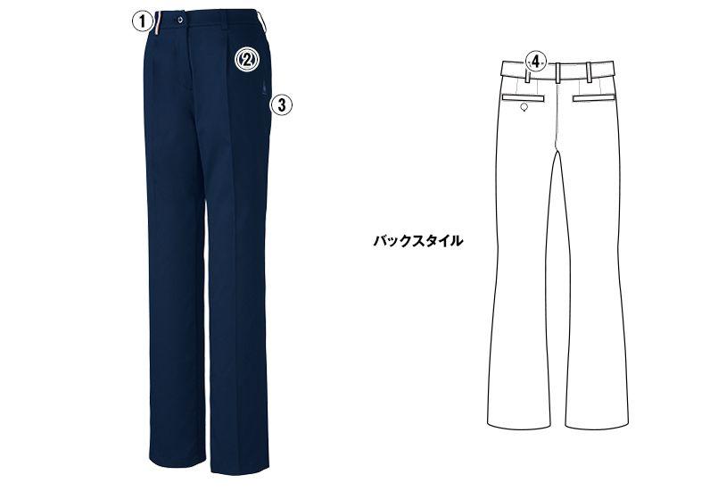 UZL4028 ルコック ジャージ ワンタックスラックスパンツ(女性用) 商品詳細・こだわりPOINT