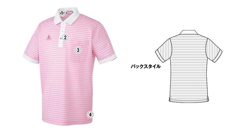 UZL8023 ルコック ボーダーニットポロシャツ(男女兼用) 商品詳細・こだわりPOINT