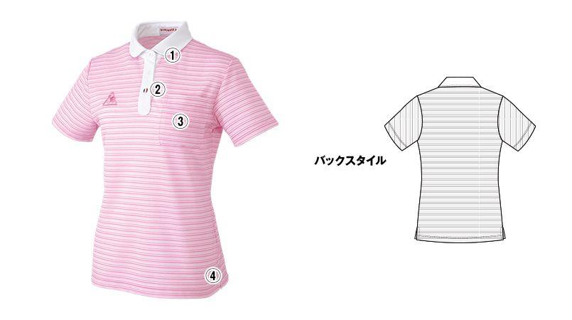 UZL8024 ルコック ボーダーニットポロシャツ(女性用) 商品詳細・こだわりPOINT
