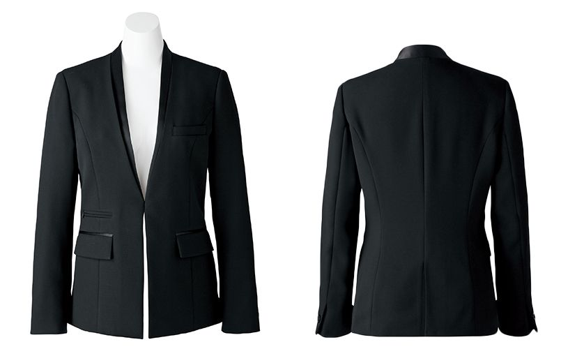 BONMAX AJ0243 [通年]インプレス 前ホック留めのジャケット 無地 商品詳細・こだわりPOINT