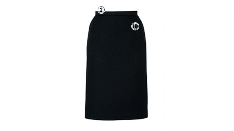 BONMAX AS2249 [通年]エターナル タイトスカート 無地 商品詳細・こだわりPOINT